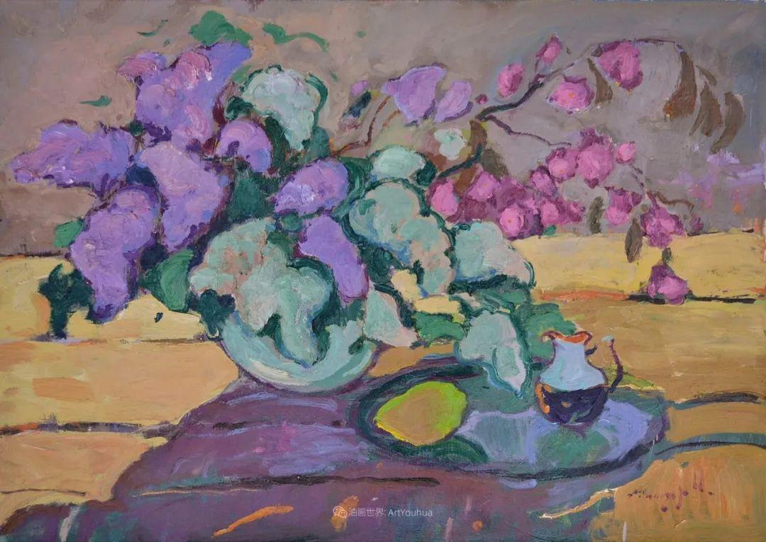 冷暖的色彩碰撞,迷人的静物与花卉作品!插图146