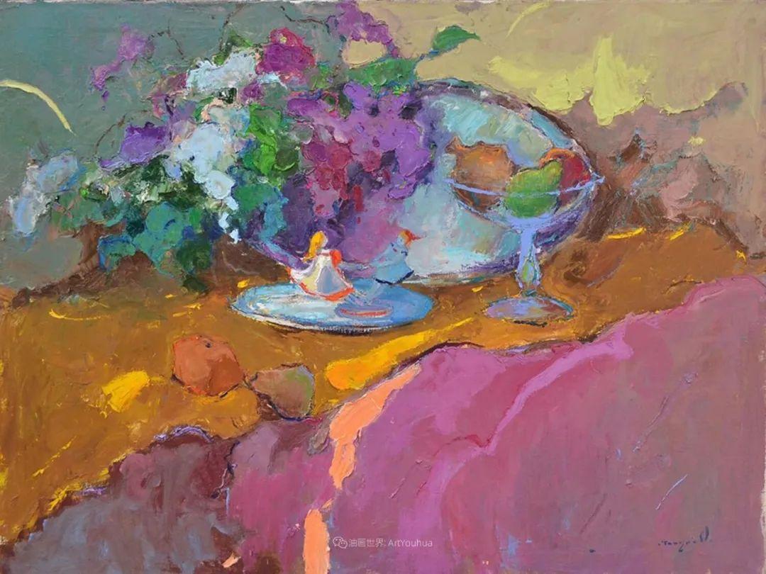 冷暖的色彩碰撞,迷人的静物与花卉作品!插图148