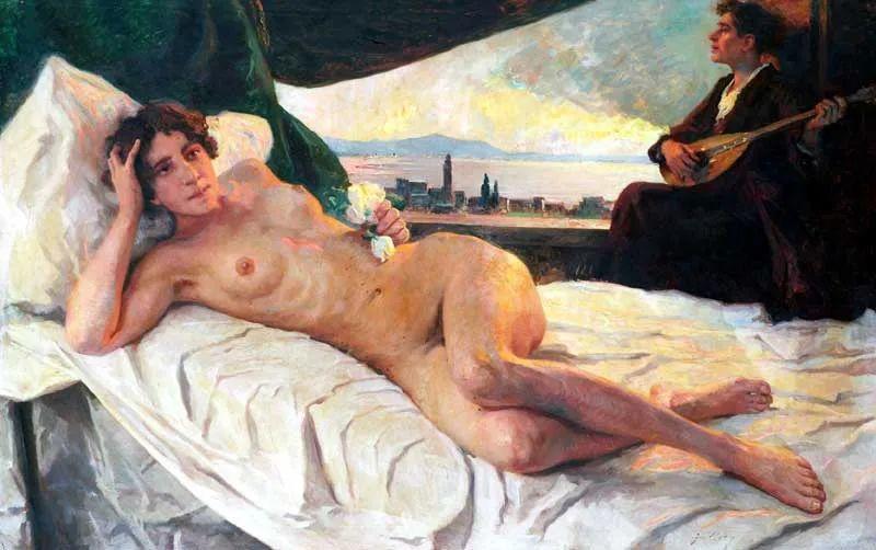 沉浸在浪漫生活和艺术氛围中,德国画家弗朗茨·吉勒里作品插图15