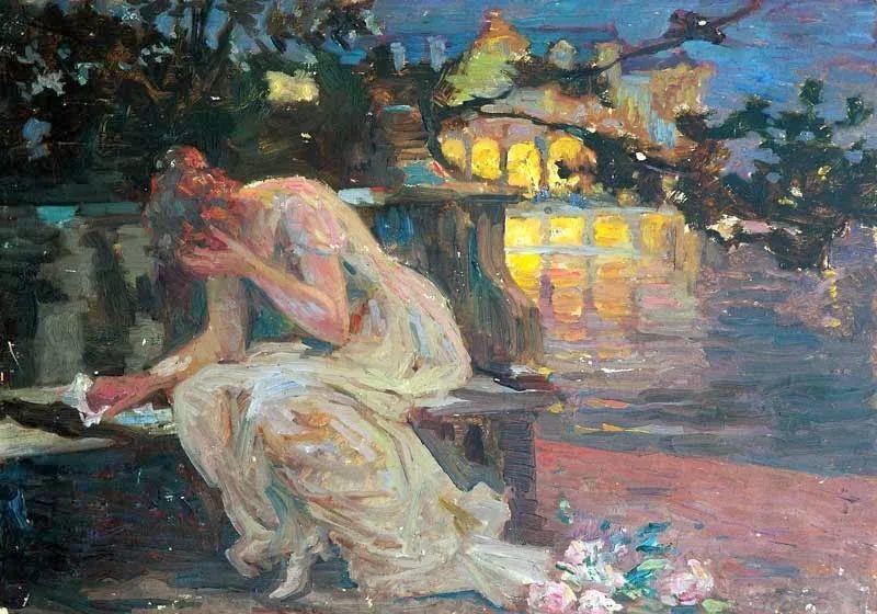 沉浸在浪漫生活和艺术氛围中,德国画家弗朗茨·吉勒里作品插图25