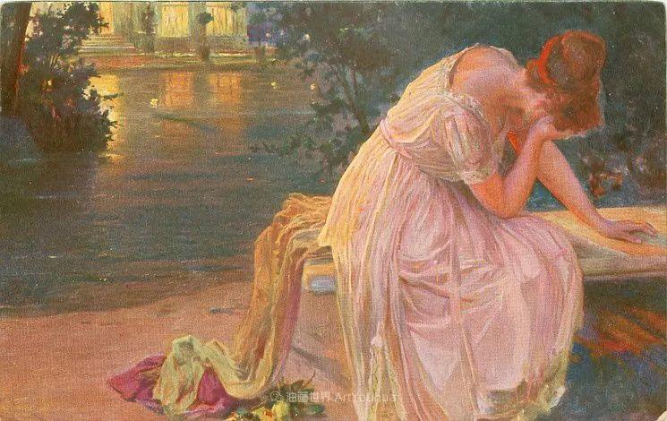 沉浸在浪漫生活和艺术氛围中,德国画家弗朗茨·吉勒里作品插图27