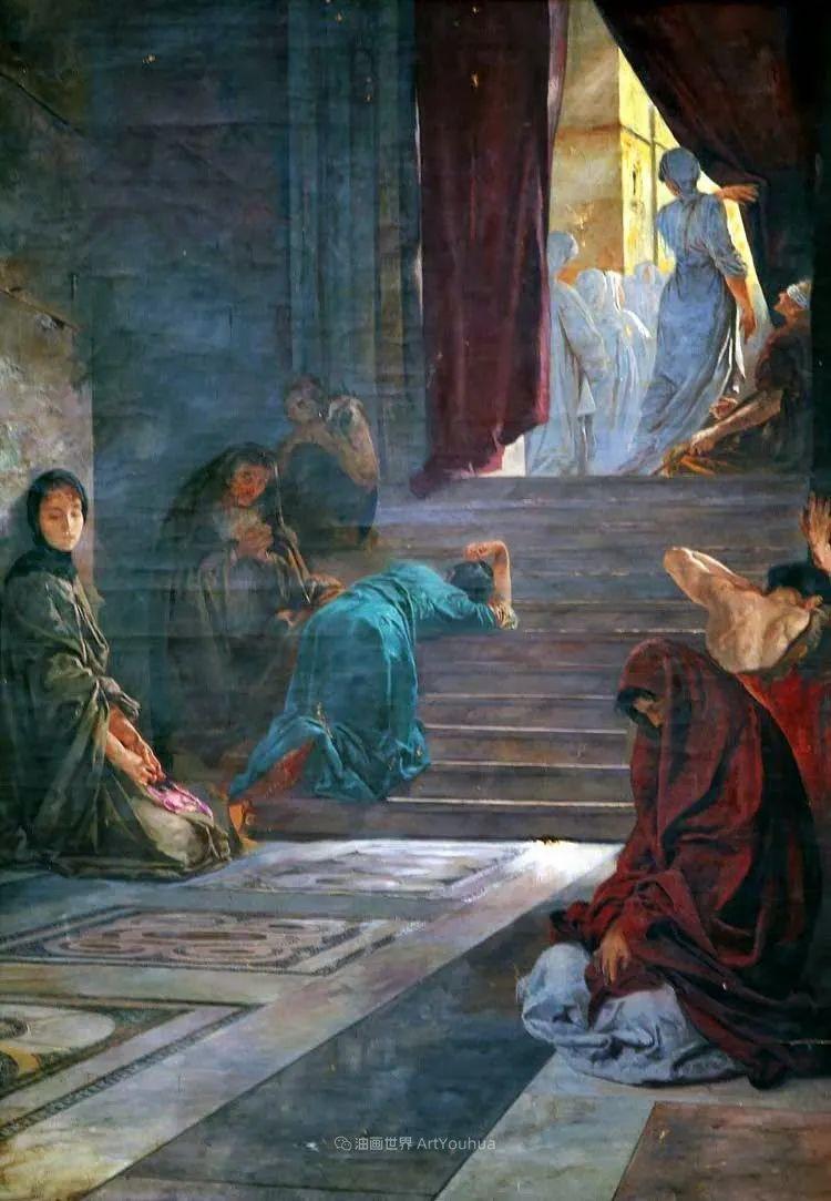 沉浸在浪漫生活和艺术氛围中,德国画家弗朗茨·吉勒里作品插图49