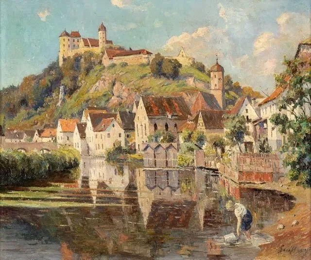 沉浸在浪漫生活和艺术氛围中,德国画家弗朗茨·吉勒里作品插图59