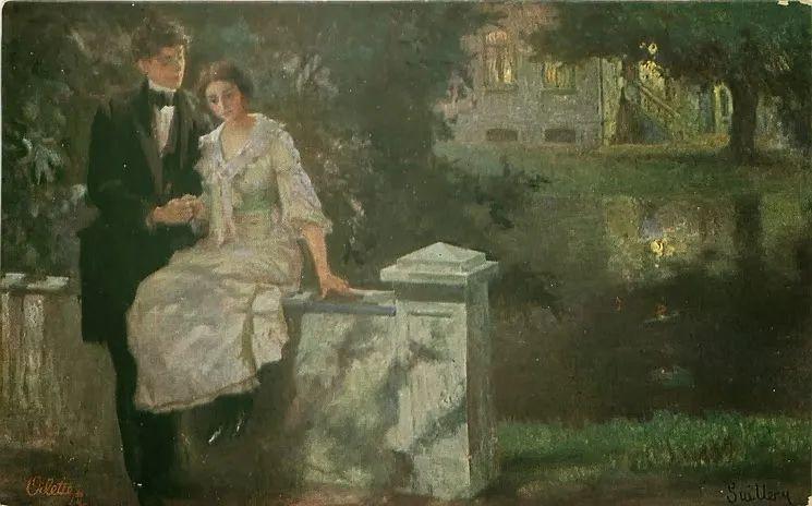 沉浸在浪漫生活和艺术氛围中,德国画家弗朗茨·吉勒里作品插图63
