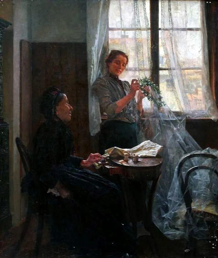 沉浸在浪漫生活和艺术氛围中,德国画家弗朗茨·吉勒里作品插图65