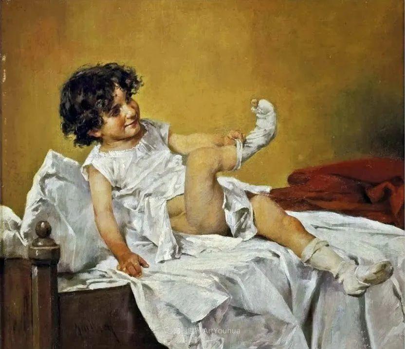 沉浸在浪漫生活和艺术氛围中,德国画家弗朗茨·吉勒里作品插图75