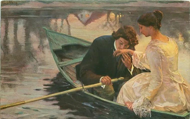 沉浸在浪漫生活和艺术氛围中,德国画家弗朗茨·吉勒里作品插图77