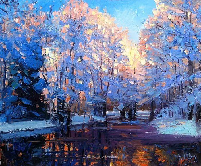大胆的笔触色彩、美丽的具象风景插图17