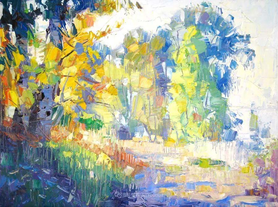 大胆的笔触色彩、美丽的具象风景插图71