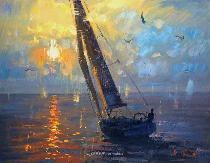 大胆的笔触色彩、美丽的具象风景插图103