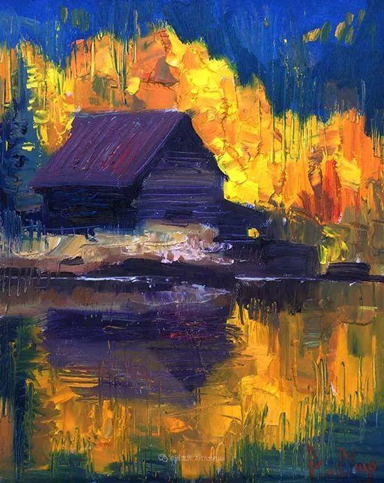大胆的笔触色彩、美丽的具象风景插图105