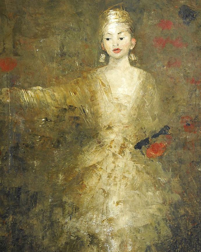 她从古代壁画中汲取灵感,但作品有一种非常现代、神秘的感觉!插图13