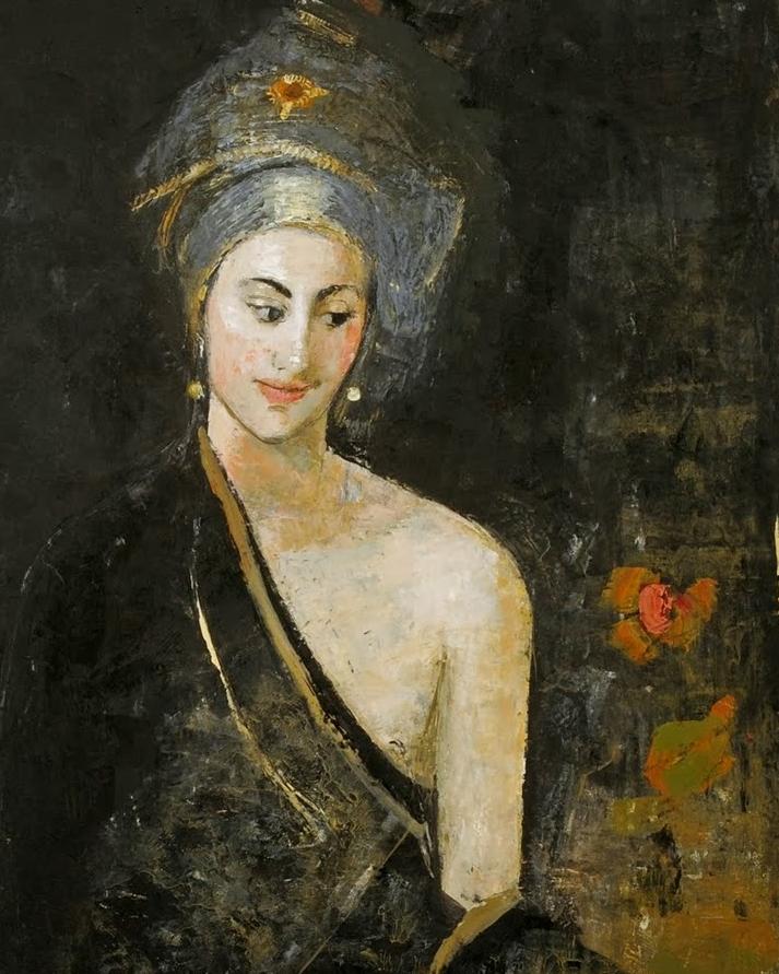 她从古代壁画中汲取灵感,但作品有一种非常现代、神秘的感觉!插图19