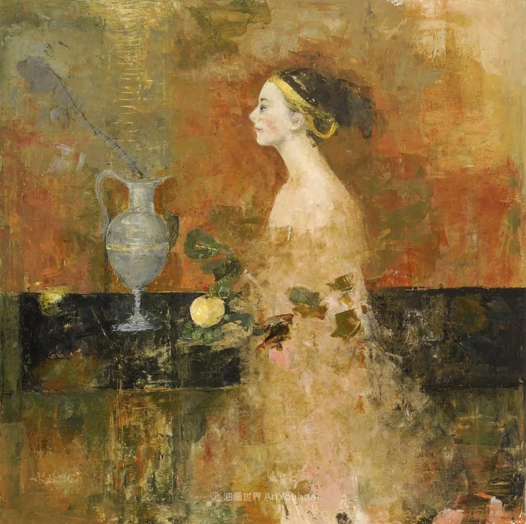 她从古代壁画中汲取灵感,但作品有一种非常现代、神秘的感觉!插图23