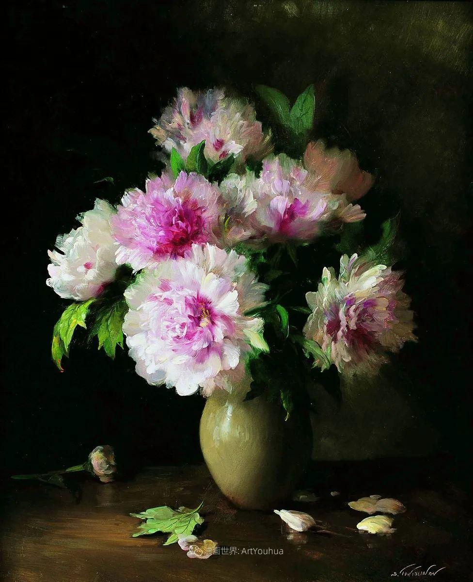 花香袭人,绚丽多彩!俄罗斯画家谢尔盖·图图诺夫插图7