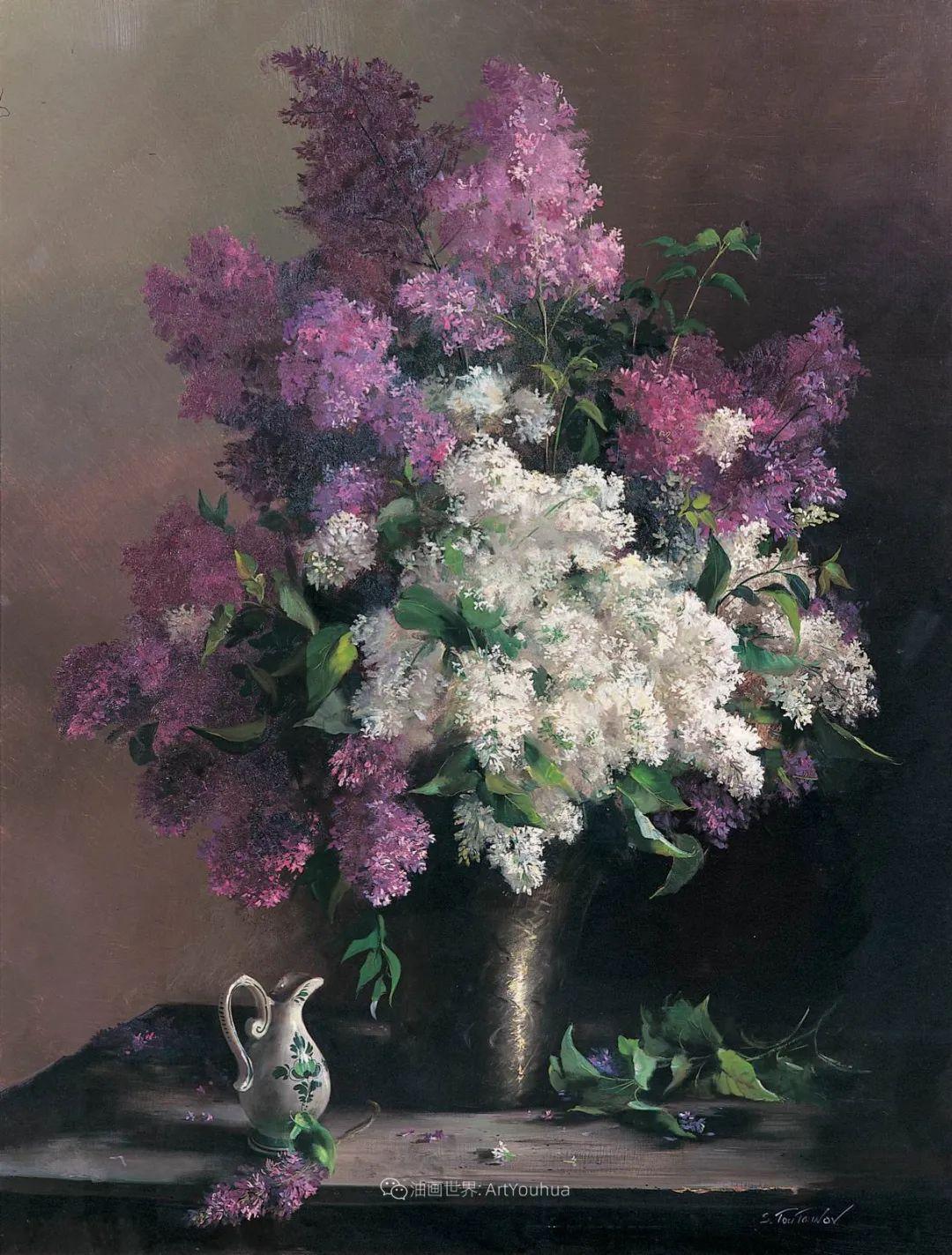 花香袭人,绚丽多彩!俄罗斯画家谢尔盖·图图诺夫插图13