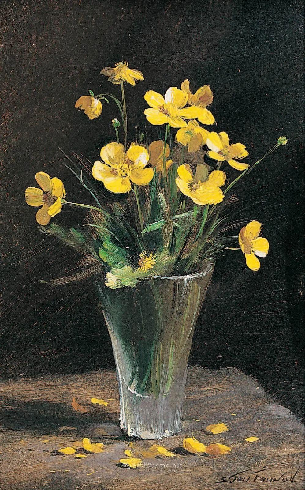 花香袭人,绚丽多彩!俄罗斯画家谢尔盖·图图诺夫插图15