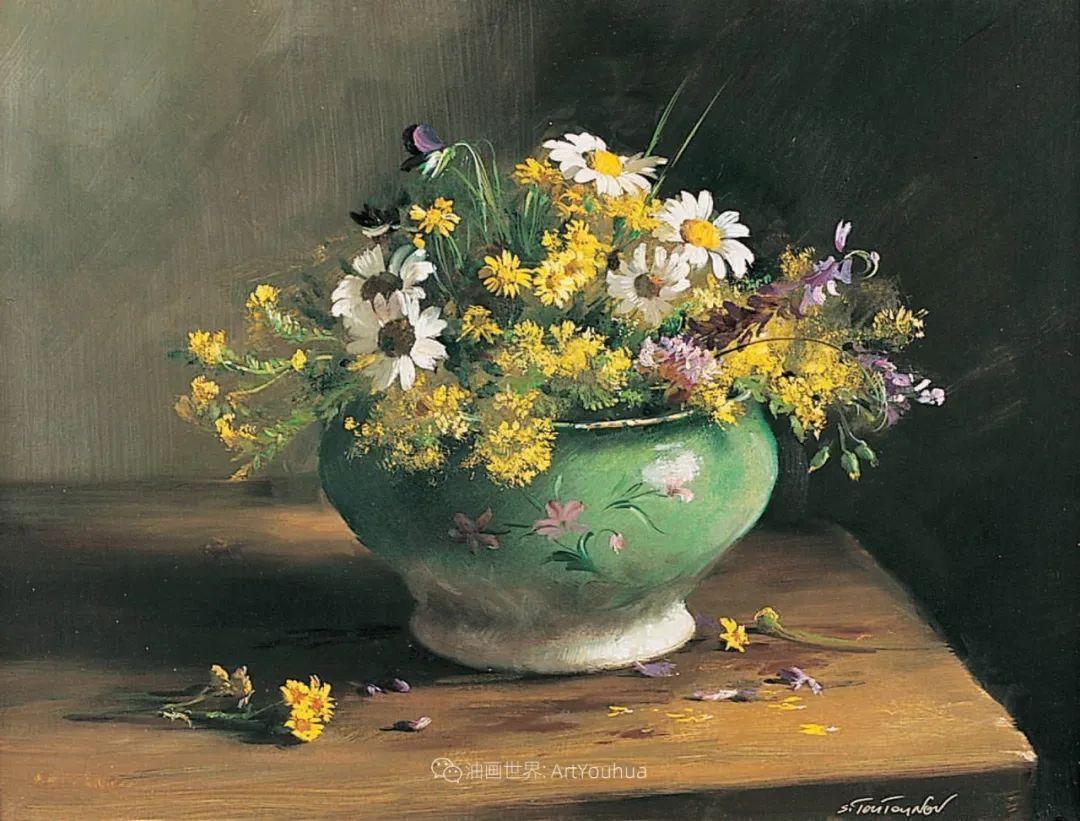 花香袭人,绚丽多彩!俄罗斯画家谢尔盖·图图诺夫插图19