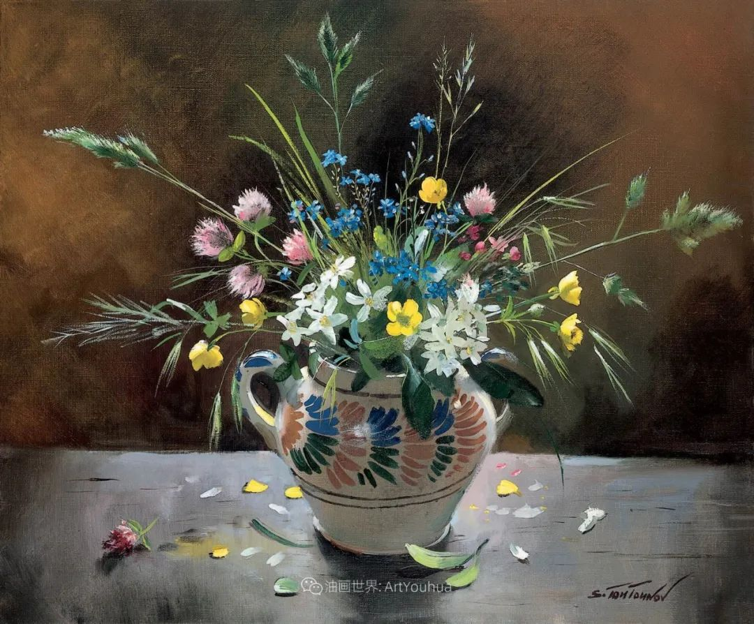 花香袭人,绚丽多彩!俄罗斯画家谢尔盖·图图诺夫插图21