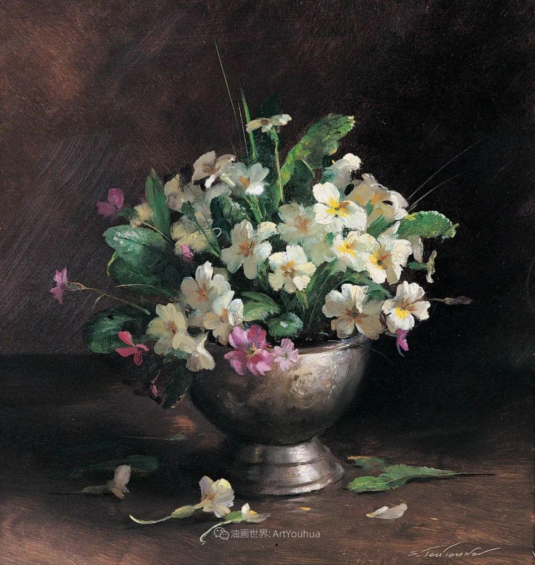 花香袭人,绚丽多彩!俄罗斯画家谢尔盖·图图诺夫插图23