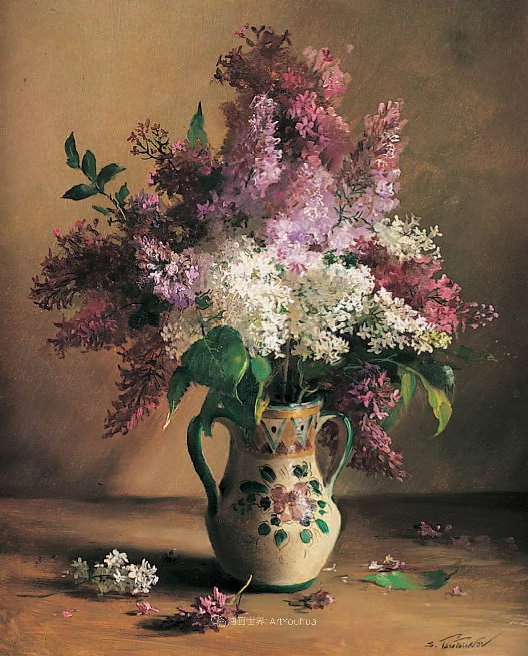花香袭人,绚丽多彩!俄罗斯画家谢尔盖·图图诺夫插图27