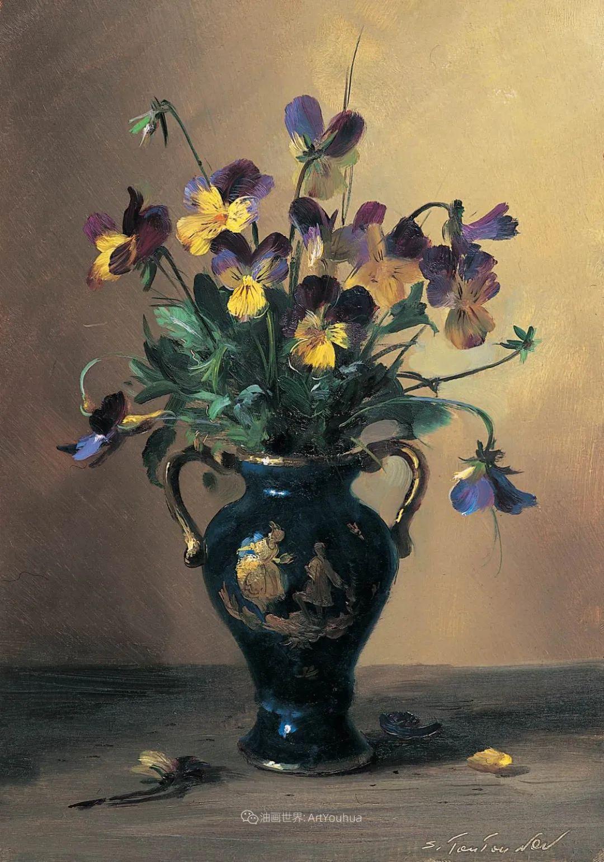 花香袭人,绚丽多彩!俄罗斯画家谢尔盖·图图诺夫插图31