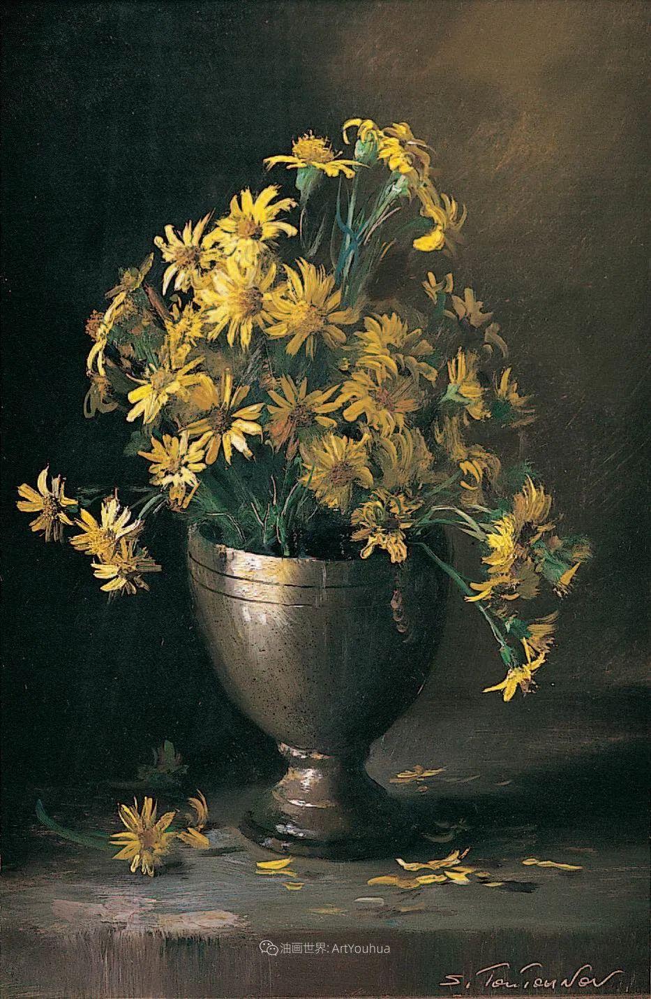 花香袭人,绚丽多彩!俄罗斯画家谢尔盖·图图诺夫插图33