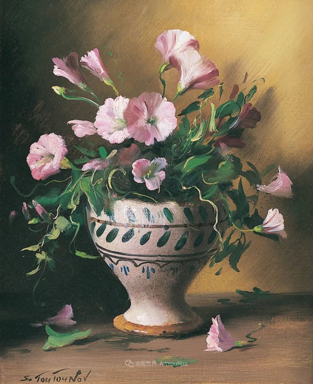 花香袭人,绚丽多彩!俄罗斯画家谢尔盖·图图诺夫插图35