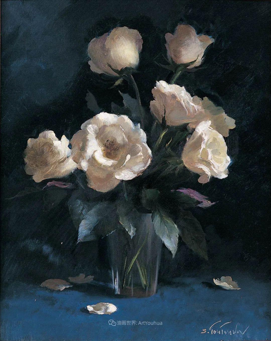 花香袭人,绚丽多彩!俄罗斯画家谢尔盖·图图诺夫插图37