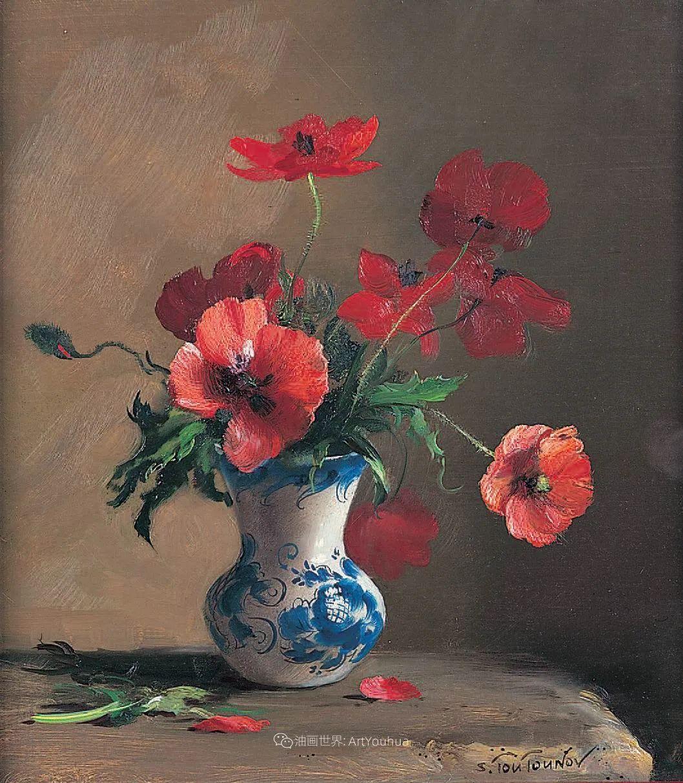 花香袭人,绚丽多彩!俄罗斯画家谢尔盖·图图诺夫插图39