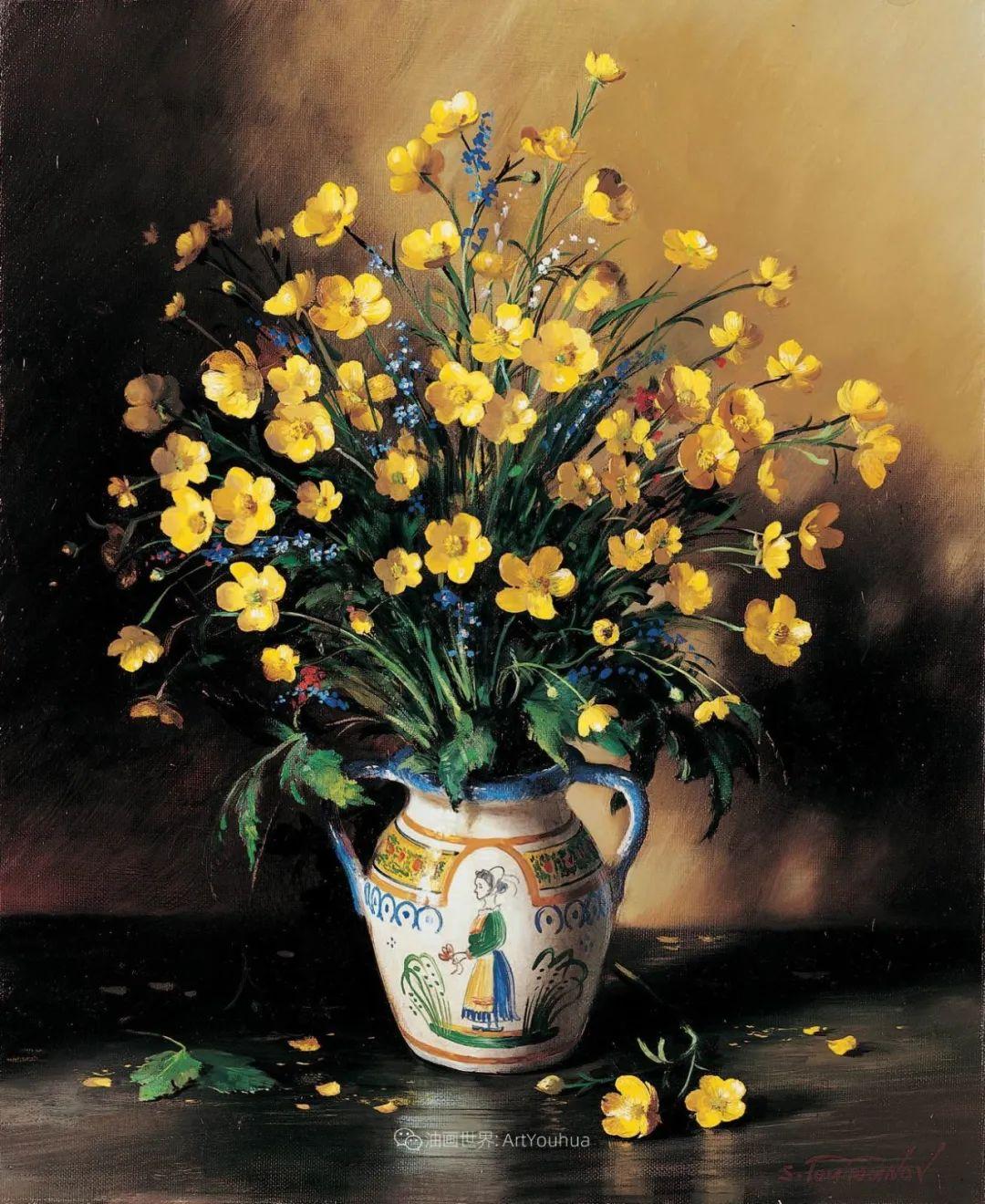 花香袭人,绚丽多彩!俄罗斯画家谢尔盖·图图诺夫插图41