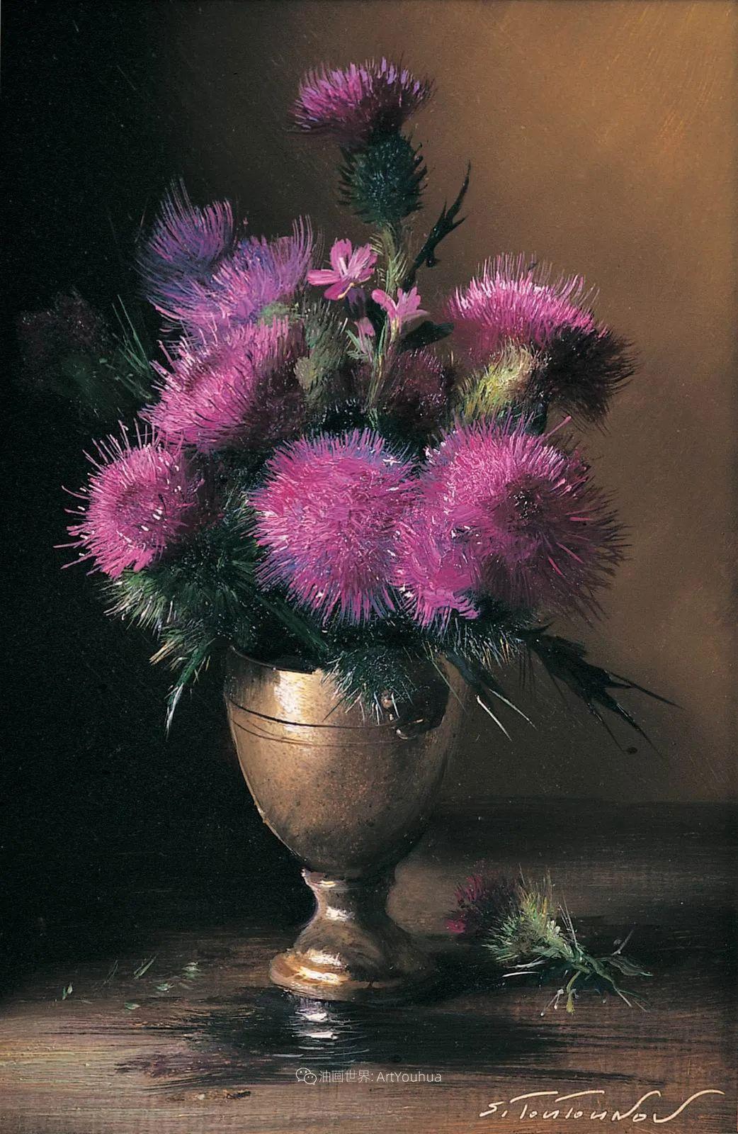 花香袭人,绚丽多彩!俄罗斯画家谢尔盖·图图诺夫插图43