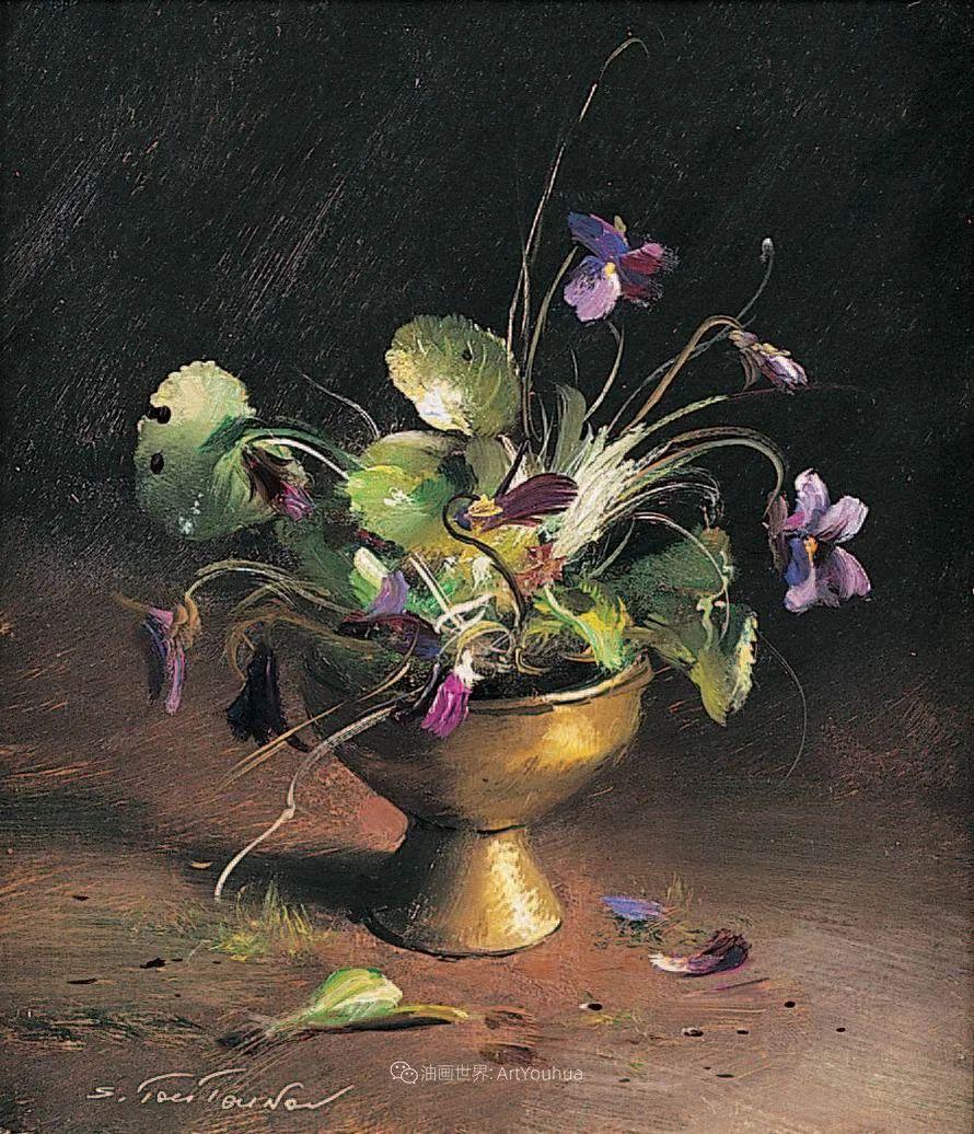 花香袭人,绚丽多彩!俄罗斯画家谢尔盖·图图诺夫插图47