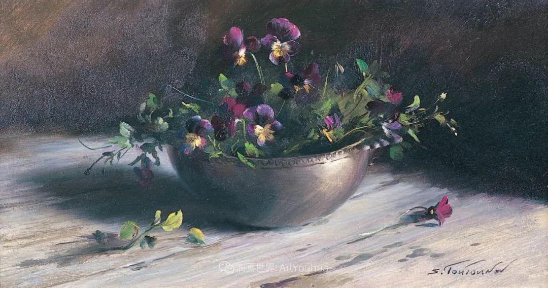 花香袭人,绚丽多彩!俄罗斯画家谢尔盖·图图诺夫插图61