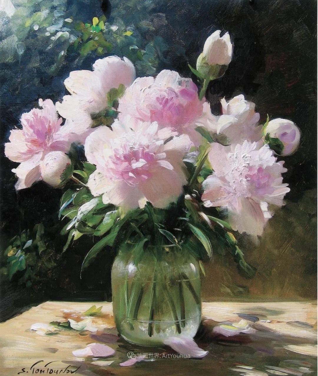 花香袭人,绚丽多彩!俄罗斯画家谢尔盖·图图诺夫插图65