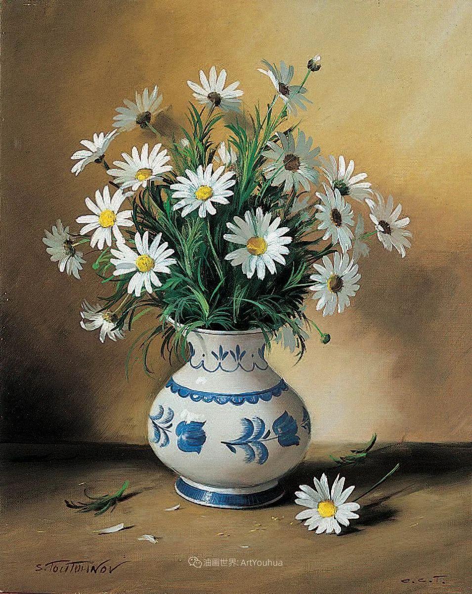 花香袭人,绚丽多彩!俄罗斯画家谢尔盖·图图诺夫插图67