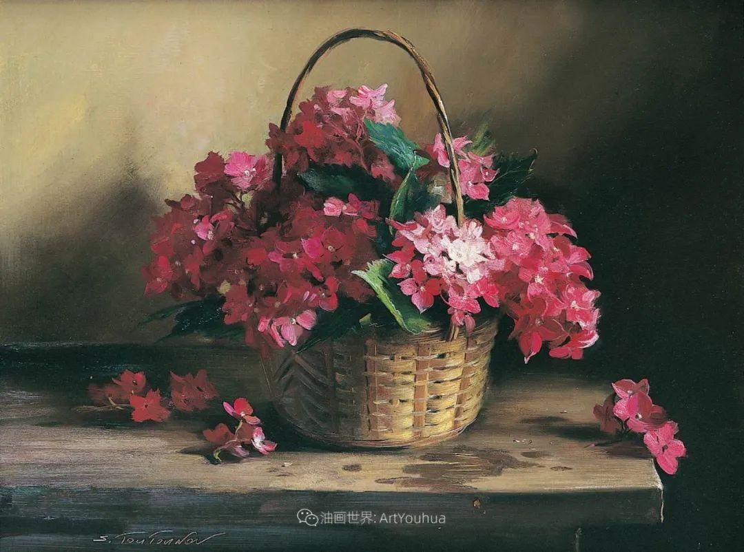 花香袭人,绚丽多彩!俄罗斯画家谢尔盖·图图诺夫插图69