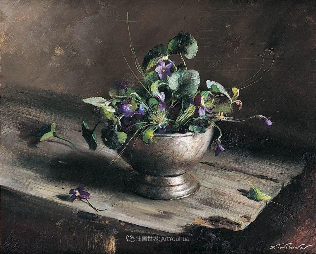 花香袭人,绚丽多彩!俄罗斯画家谢尔盖·图图诺夫插图73