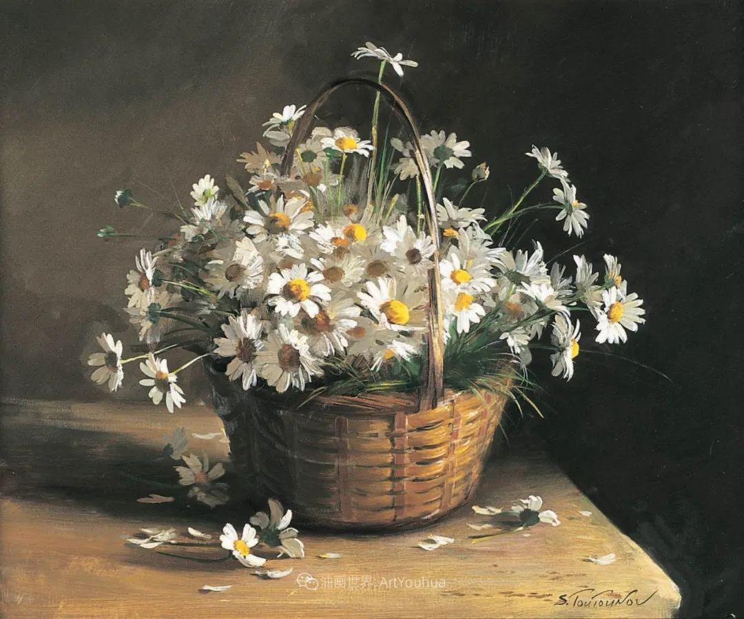花香袭人,绚丽多彩!俄罗斯画家谢尔盖·图图诺夫插图75