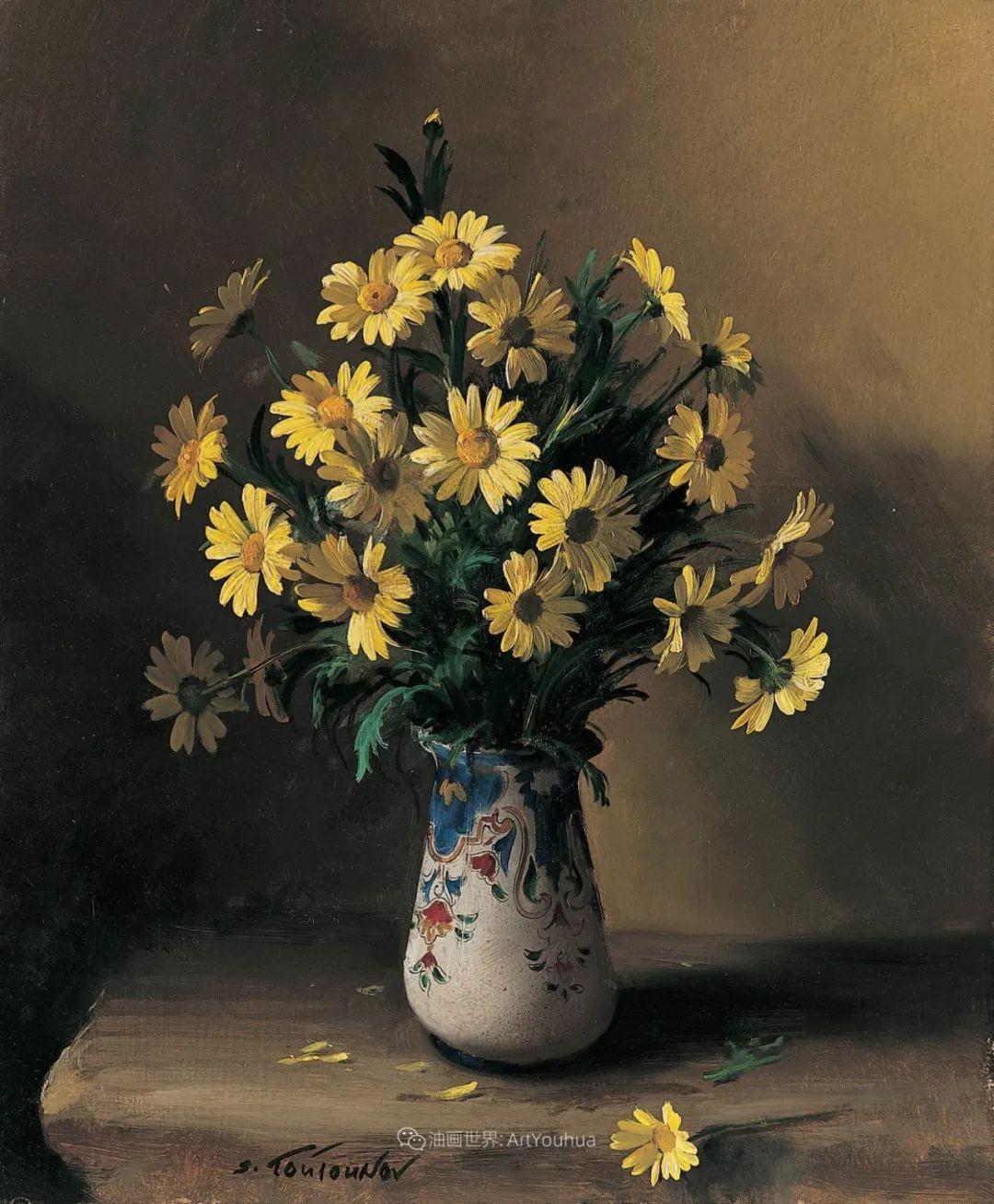花香袭人,绚丽多彩!俄罗斯画家谢尔盖·图图诺夫插图77