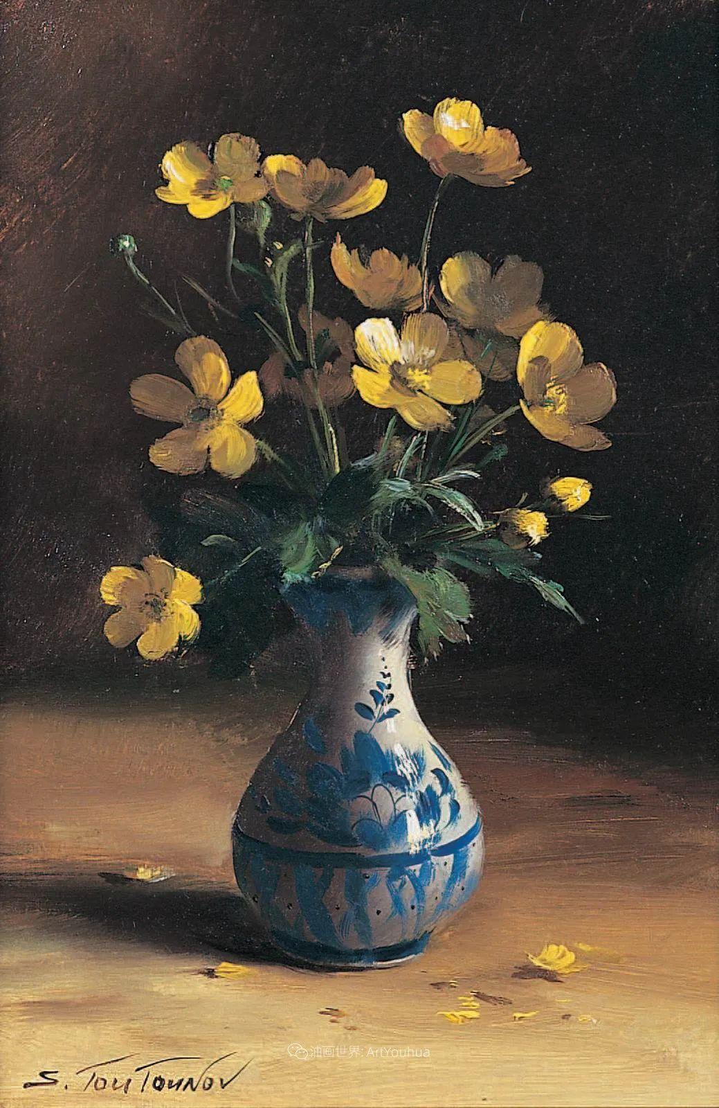 花香袭人,绚丽多彩!俄罗斯画家谢尔盖·图图诺夫插图79
