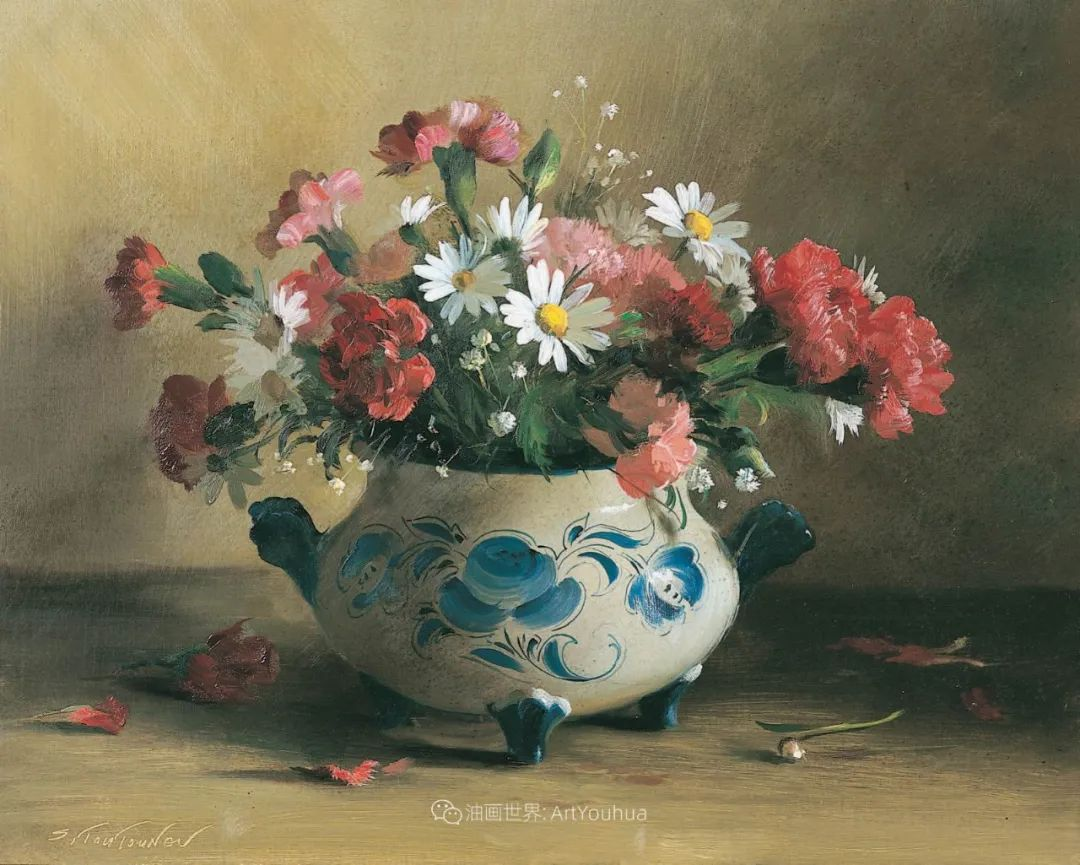 花香袭人,绚丽多彩!俄罗斯画家谢尔盖·图图诺夫插图83