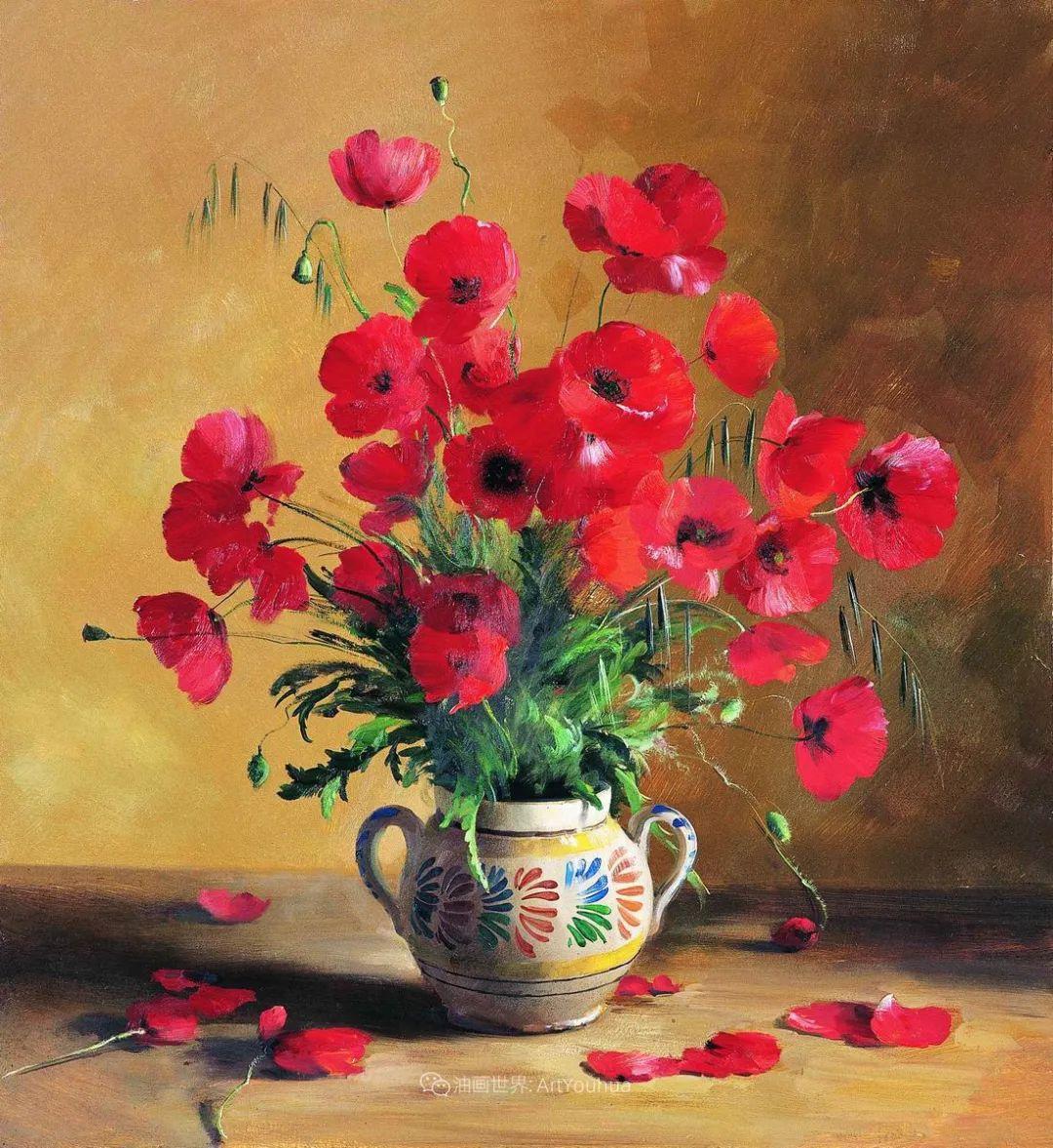 花香袭人,绚丽多彩!俄罗斯画家谢尔盖·图图诺夫插图85
