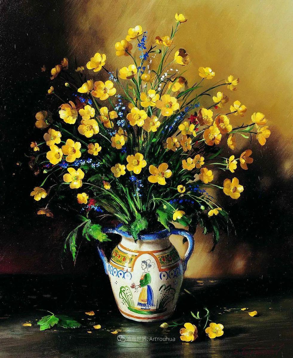 花香袭人,绚丽多彩!俄罗斯画家谢尔盖·图图诺夫插图87