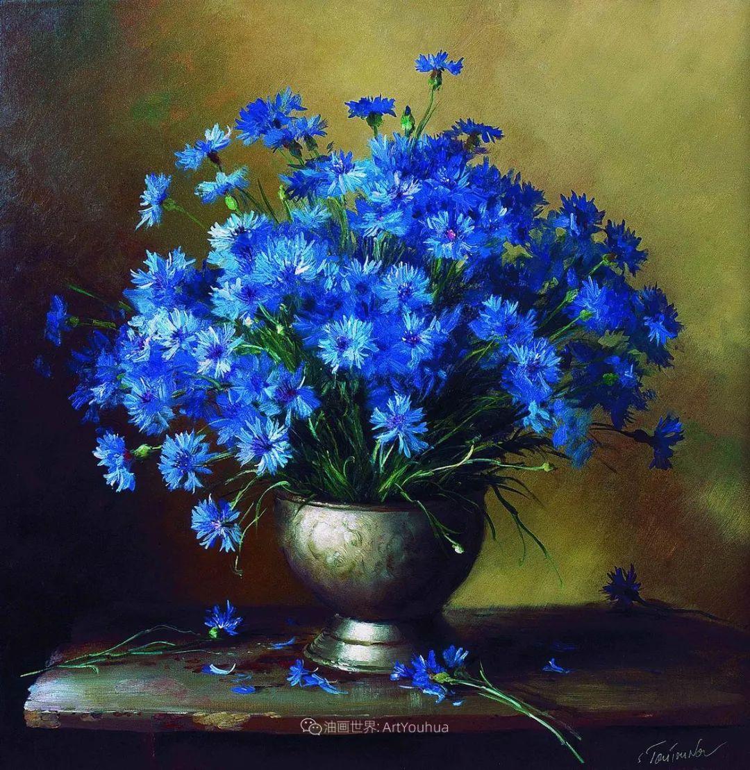 花香袭人,绚丽多彩!俄罗斯画家谢尔盖·图图诺夫插图89