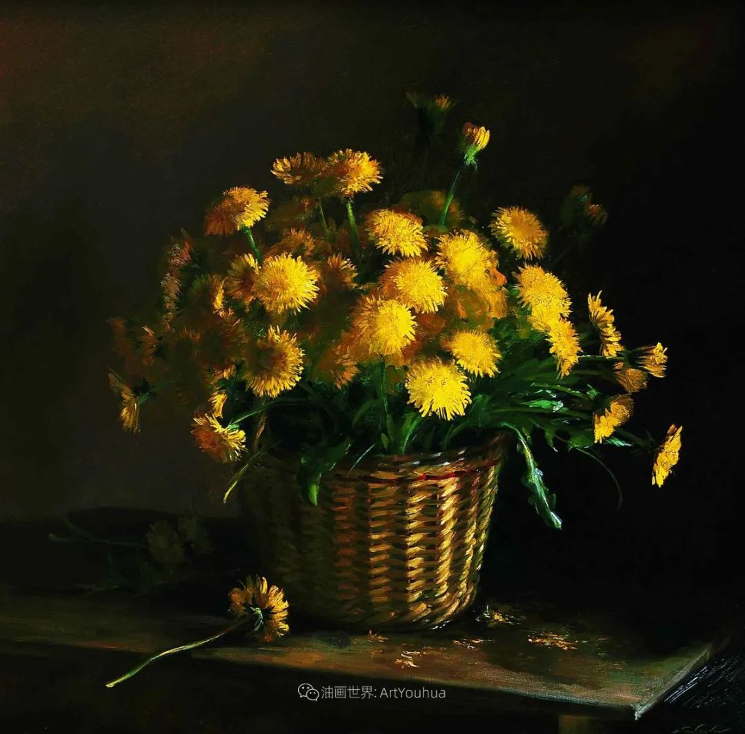 花香袭人,绚丽多彩!俄罗斯画家谢尔盖·图图诺夫插图91