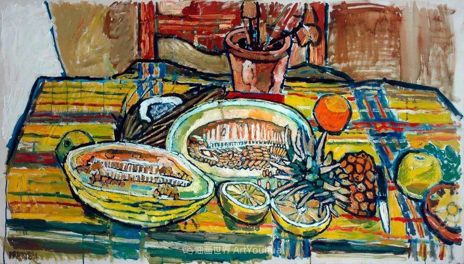 色彩鲜艳,笔触厚重!厨房水槽现实主义创始人插图77