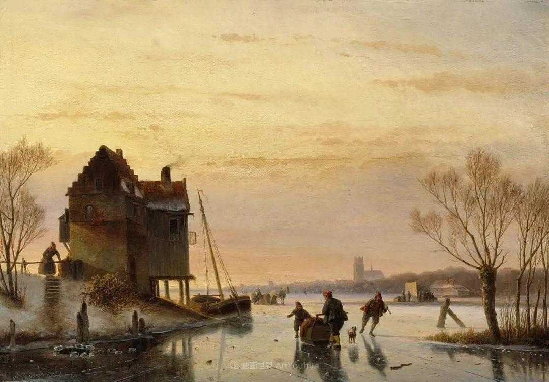 浪漫主义风景画,荷兰画家尼古拉斯·鲁森博姆插图3