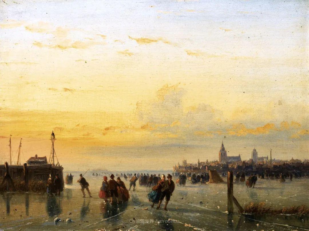 浪漫主义风景画,荷兰画家尼古拉斯·鲁森博姆插图5