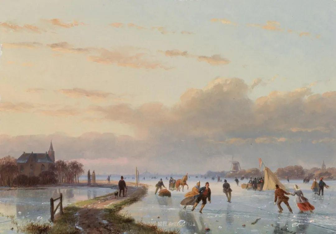 浪漫主义风景画,荷兰画家尼古拉斯·鲁森博姆插图7
